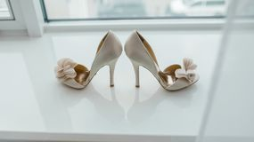 White pair of shoes Stock Image