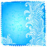 White paisley frame Royalty Free Stock Photography