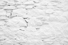 White Paited and Plastered Wall Stock Image