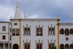 White palace with huge chimneys Royalty Free Stock Images