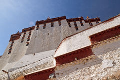 White Palace of Potala Palace in Lhasa, Tibet Stock Photography