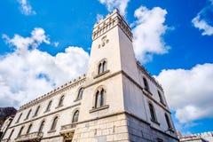White Palazzo della Bella palace in Vico Del Gargano - Apulia - Italy.  stock photos