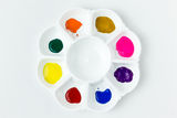 White Palette With Watercolour Royalty Free Stock Photography