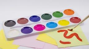 white palety kolorów izolacji Obraz Royalty Free