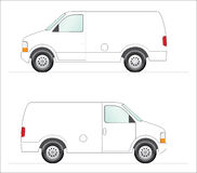White panel van. This is a clipart of a white panel van illustration. Colors can be changed for additional format Stock Photos