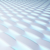 White panels with luminescence. 3d rendering. Stock Photography