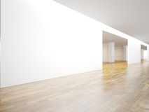 White panoramic wall in museum interior with Stock Images