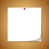 White paper. White note paper. Embroidered with a red marker. Placed on the ground, the old brown paper royalty free stock photography