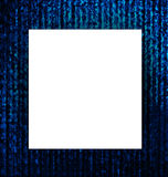 White paper with Abstract blue grunge background. Royalty Free Stock Images