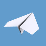 White paper airplane Royalty Free Stock Photography