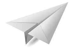 White paper airplane Stock Image