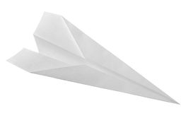 White paper airplane Royalty Free Stock Photos