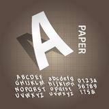 White Paper Alphabet and Numbers Vector Royalty Free Stock Image