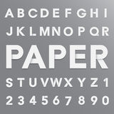 White paper alphabet with shadow Stock Images