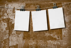 White paper on the background of the wall Royalty Free Stock Photo