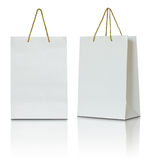 White paper bag Royalty Free Stock Photo