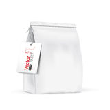 White paper bag for bulk products, tea, coffee, spices. Royalty Free Stock Photography
