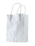 White paper bag isolated on white Stock Photos