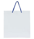 White paper bag isolated on white Stock Photo
