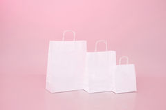 White paper bag shopping sale discount shop and store Stock Image