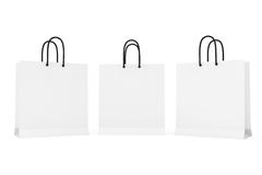White Paper Bags Stock Photography