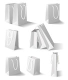 White paper bags set Royalty Free Stock Image