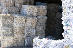 White paper bales Royalty Free Stock Images