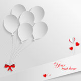 White paper balloons Stock Photography