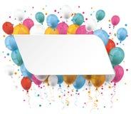 White Paper Balloons Stock Image