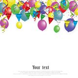 White paper banner for Carnival.Happy Birthday typography vector design for greeting cards and poster with balloon. Confetti , design template for celebration royalty free illustration