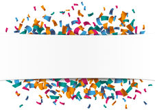White Paper Banner Confetti Royalty Free Stock Photo