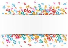 White Paper Banner Percents Stock Photo