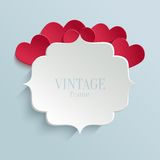 White paper banner in vintage or retro style Royalty Free Stock Photo