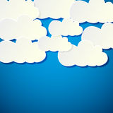 White paper banners clouds Royalty Free Stock Photography