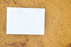 White paper on the beach Royalty Free Stock Photography