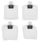White paper binder clips on a white background. Stock Photography