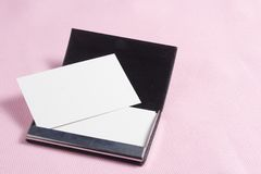 White paper Blank Card Stock Photo