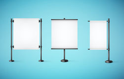 White paper board with empty space Royalty Free Stock Photos