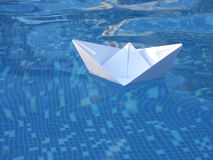 White Paper Boat Stock Image