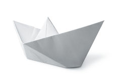 White paper boat Stock Images