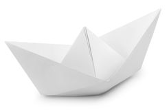 White Paper Boat Royalty Free Stock Photo