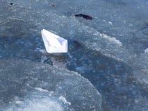 White paper boat Stock Photo