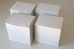 White paper box on table Royalty Free Stock Photo