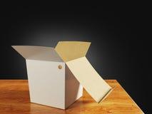 White paper box Stock Image