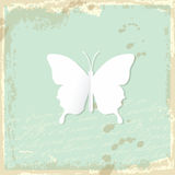 White paper butterfly. Royalty Free Stock Photography