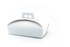 White paper cake box Stock Photography