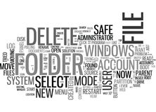 A White Paper On Cannot Delete File Cannot Read From The Source File Or Disk Word Cloud Royalty Free Stock Photo