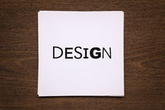 White paper cards with word Stock Photography