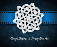 white paper christmas snowflake Stock Photos