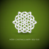 white paper christmas snowflake Royalty Free Stock Image